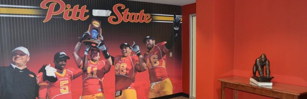 Pittsburgh State University Sports Facility Construction Locker Room entrance
