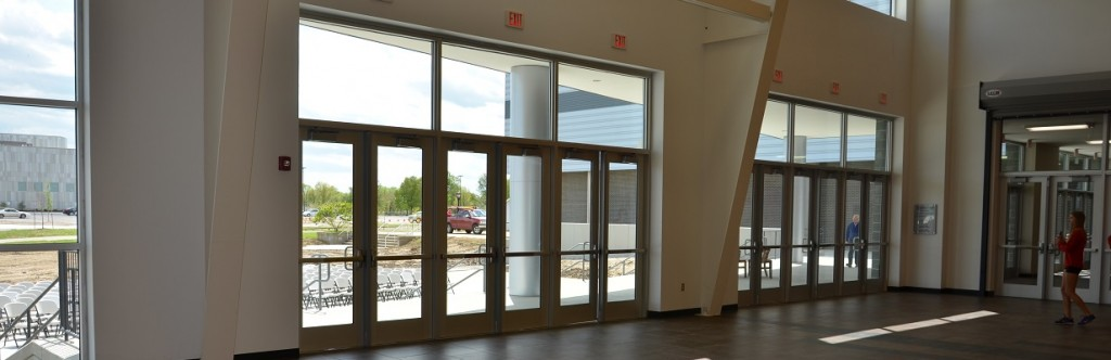 Pittsburgh State University Sport Facility Construction Inside Viewing Outside