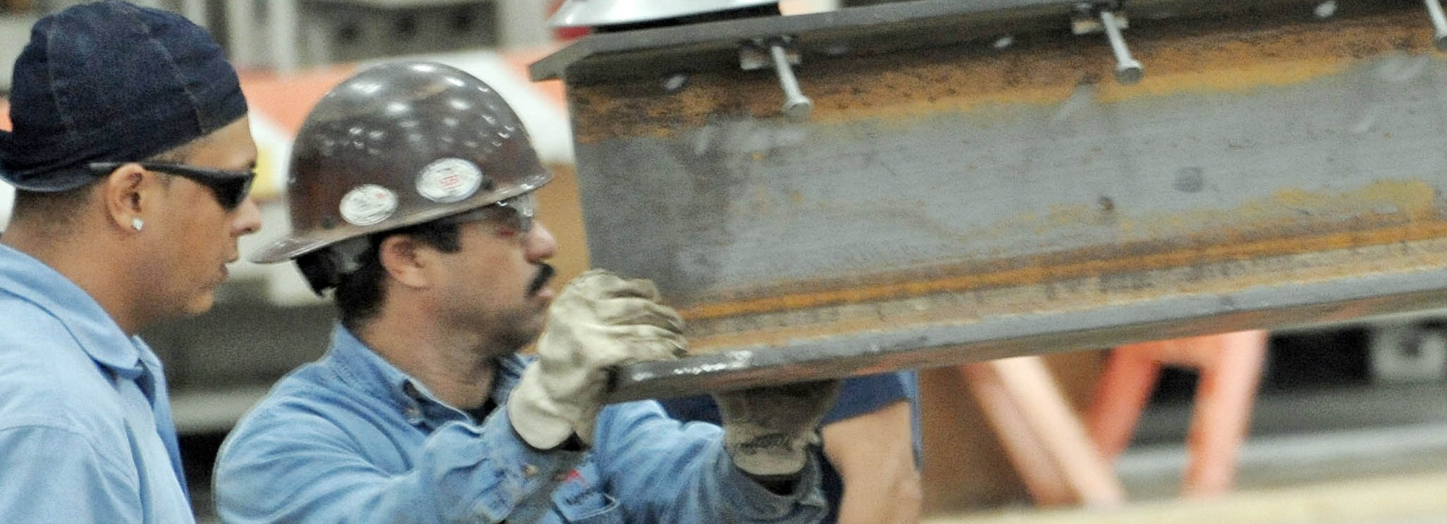 Progressive Industries Industrial Construction Interior Men Holding Beam