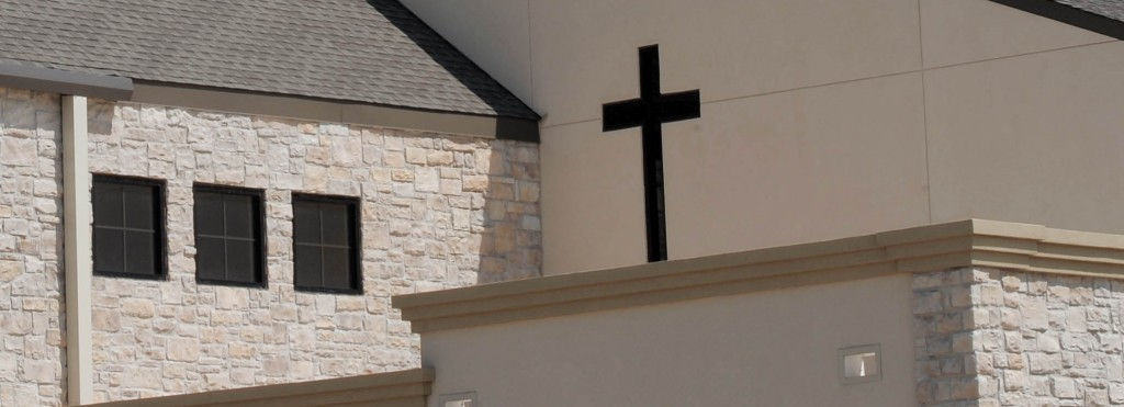 St John's Lutheran Church Construction Exterior Cross