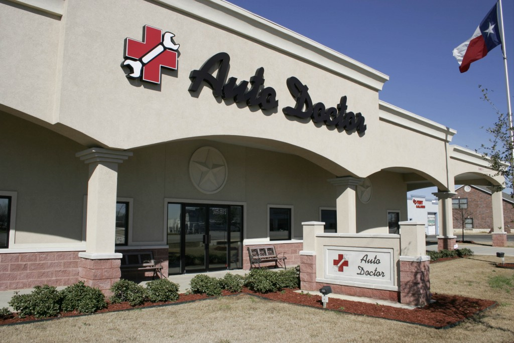 Auto Doctor Commercial Construction Exterior Sign Finished