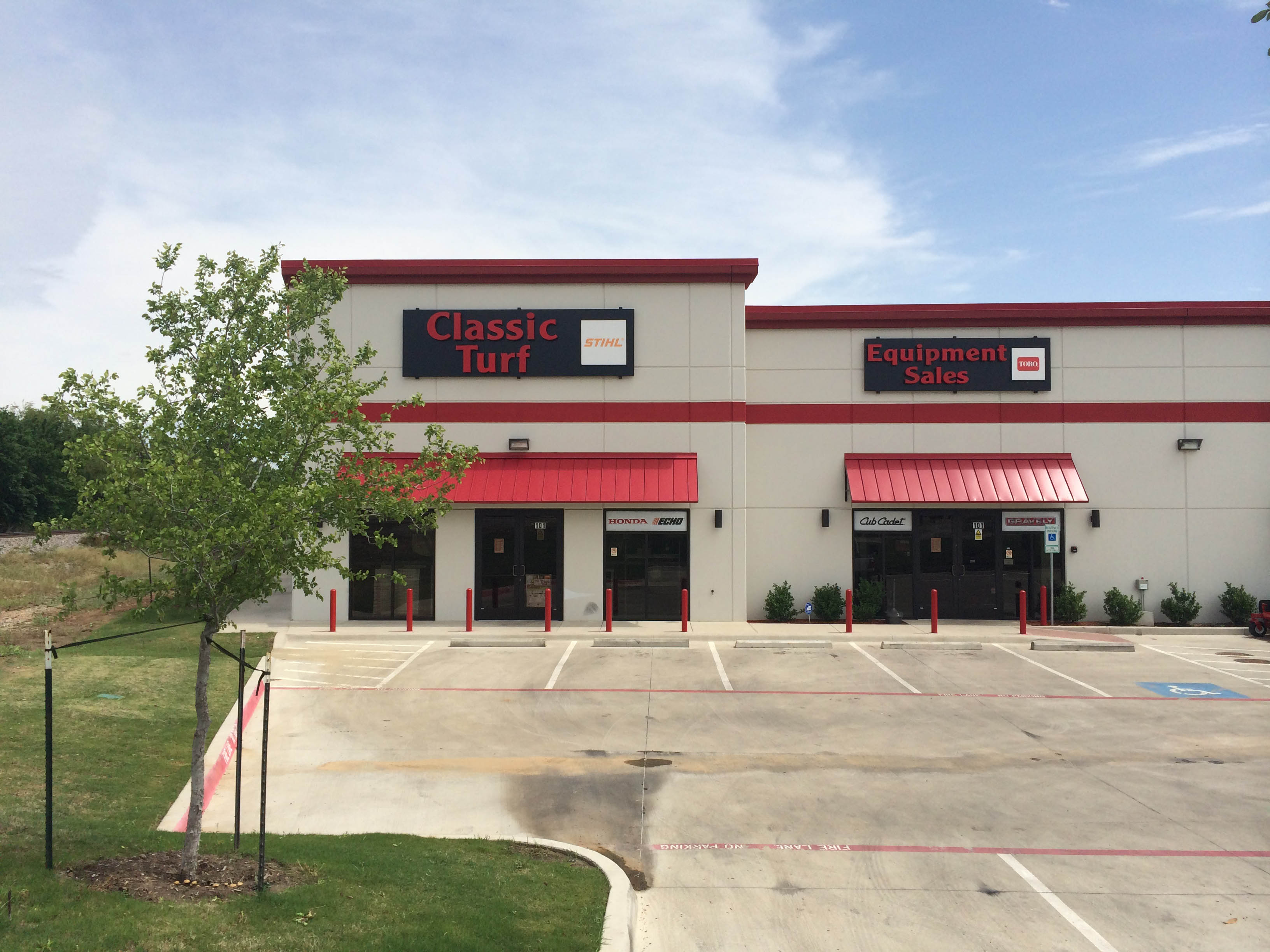 Classic Turf Commercial Construction Exterior Finished