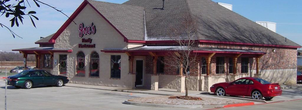 Joes Restaurant Retail Construction Exterior Side View