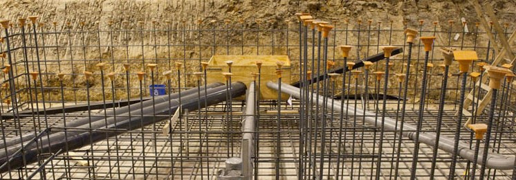 Lockheed Martin Industrial Construction Interior Foundation Pipes