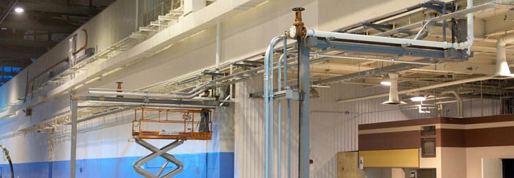 Lockheed Martin Industrial Construction Ceiling pipes