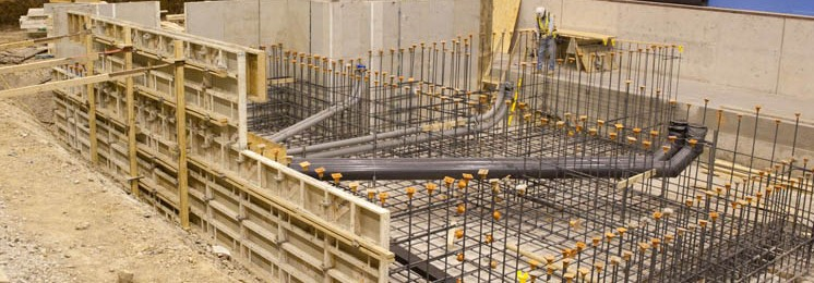 Lockheed Martin Industrial Construction Interior Foundation View