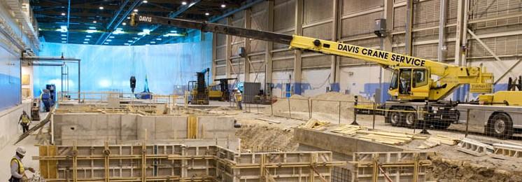 Lockheed Martin Industrial Construction Interior Construction with Crane