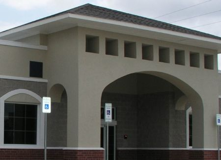 Mansfield Physical Therapy Commercial Construction Exterior Front With Parking lot signs