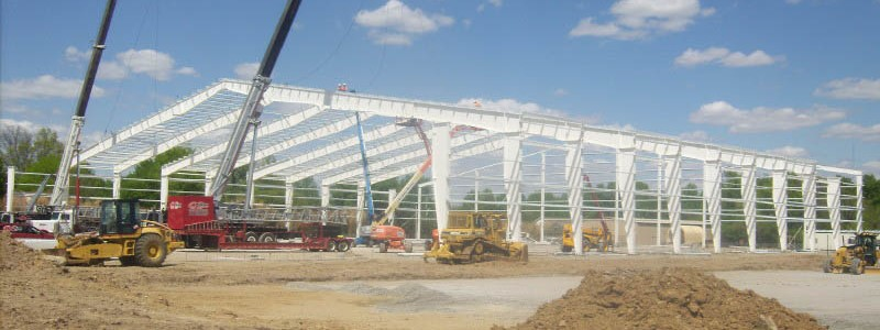 Pittsburgh State University Sports Facility Construction Framing Side