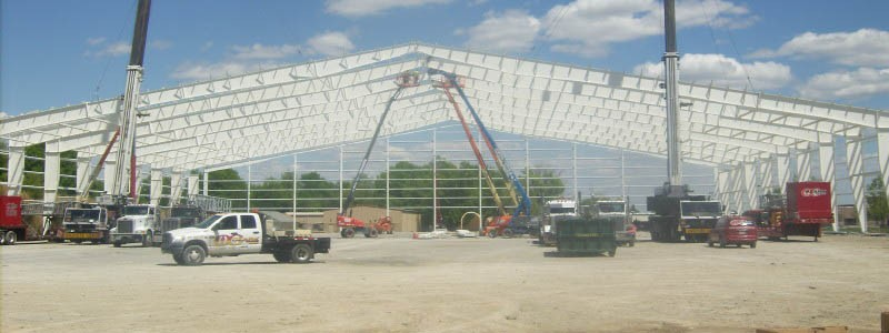 Pittsburgh State University Sports Facility Construction Framing