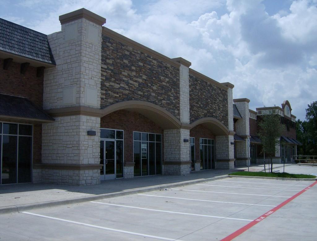 South Cooper Retail Construction Exterior Sidewalk view