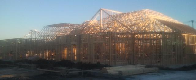 Mansfield Medical Construction Exterior Wood Framed