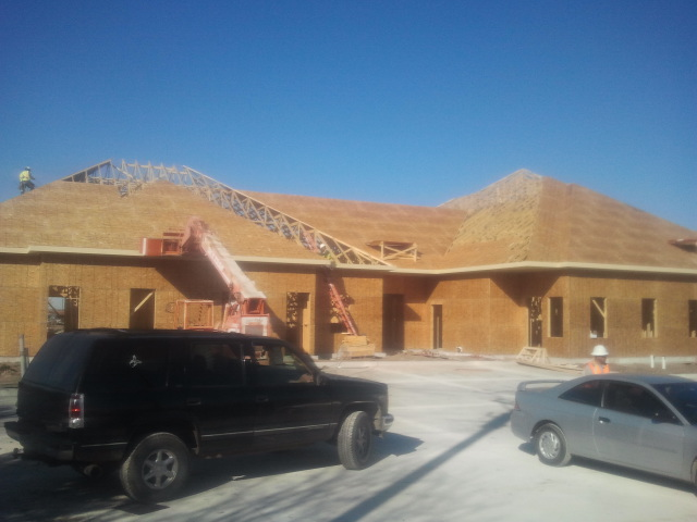 Mansfield Medical Construction Exterior Wood Frame