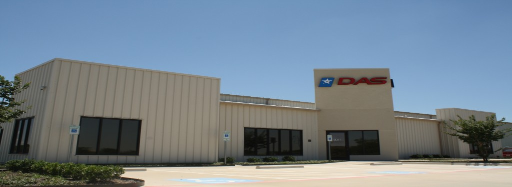 Dallas Aeronautical Services Industrial Construction Exterior Logo