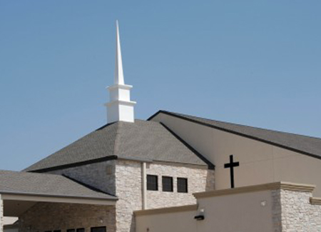 St John Catholic Church Construction Steeple