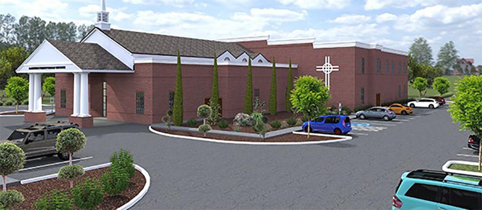 Lakeside Presbyterian Church 3D rendering