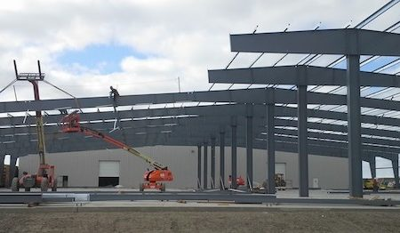 Watco Transload Industrial Construction Phase II Framing