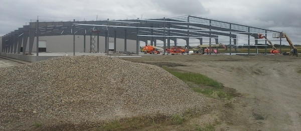 Watco Transload Industrial Construction Phase II Exterior Framing
