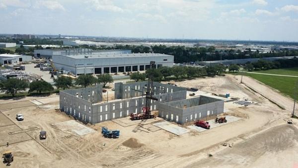 Wyman Gordon Industrial Construction Aerial View Unfinished