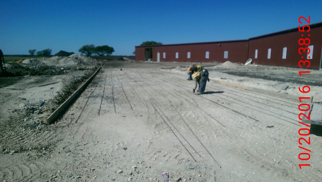 Nationwide Construction at work on the new Texzon Technologies facility.
