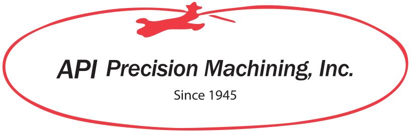 API Precision Machining Logo